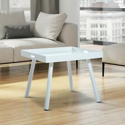 HOMCOM® Beistelltisch Tabletttisch Holz 60x60x50cm weiss