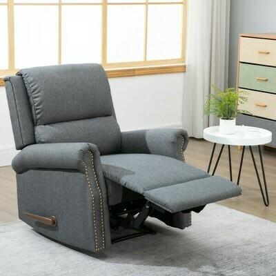 HOMCOM® Relaxsessel Einzelsofa Liege 125° neigbar Abnehmbare Rückenlehne Leinen 89 x 83,5 x 101 cm
