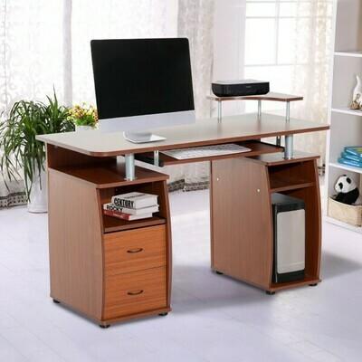 HOMCOM® Computertisch Schreibtisch Arbeitstisch PC Tisch Walnuss