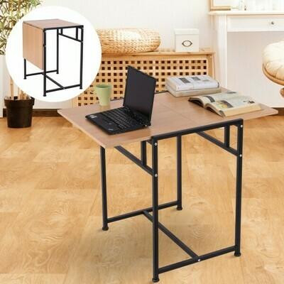 HOMCOM® Klapptisch Schreibtisch 2 in 1 Spanplatte Walnuss