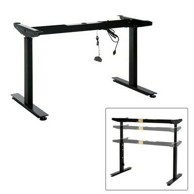 HOMCOM® höhenverstellbares Tischgestell Elektrisch Schwarz