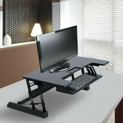 HOMCOM® Aufsatz Schreibtisch schwarz Erhöhung höhenverstellbar