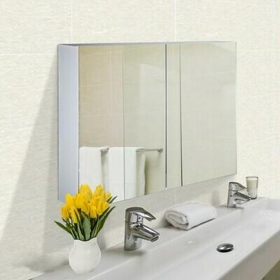 HOMCOM® Spiegelschrank Badspiegel Wandspiegel