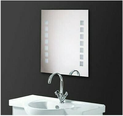 HOMCOM® Lichtspiegel Badspiegel LED Wandspiegel IP44