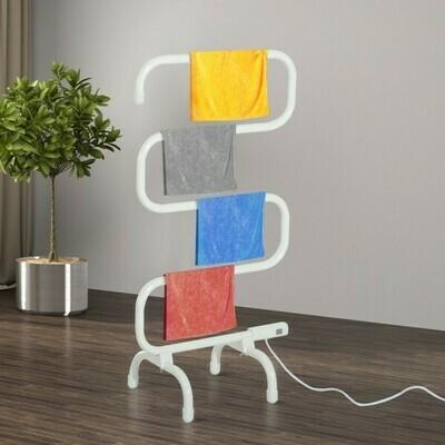 HOMCOM® Handtuchwärmer Elektrisch Freistehend Milchweiss