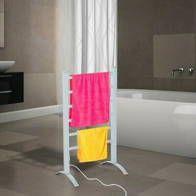 HOMCOM® Handtuchheizkörper Beheizte Handtuchhalter Handtuchheizkörper 6 Heizstäbe Silber