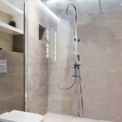 kleankin® Duschsystem Duscharmatur mit Handbrause Chrom