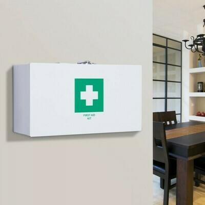 HOMCOM® Erste Hilfe Schrank Verbandsschrank Medikamentenschrank 2 Schlüsseln Weiss