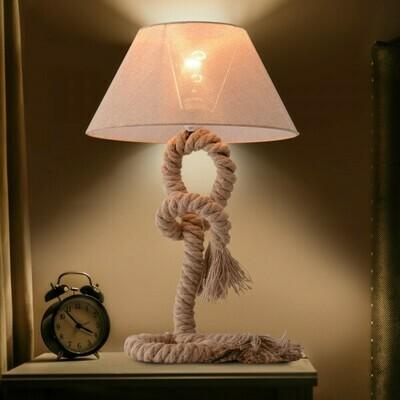 HOMCOM® Tischlampe Taulampe Hanfseil Lampenschirm E27 40W beige