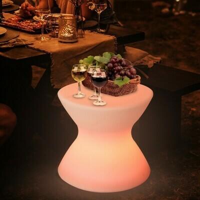 Outsunny® LED-Hocker LED Beistelltisch Lampe 16 Farben Farbwechsel Fernbedienung PE 40 x 40 x 36 cm