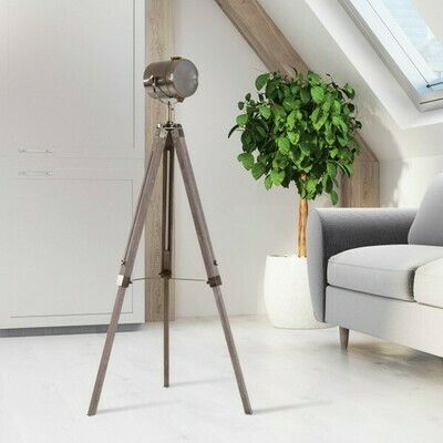 HOMCOM® Stehlampe Dreibein 100-140cm E14 Bronze
