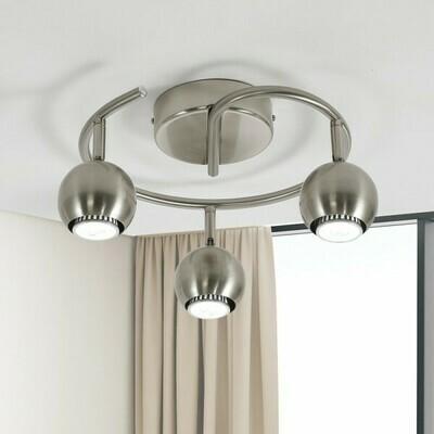 HOMCOM® Deckenlampe Deckenleuchte 3 x GU10 40W Silber