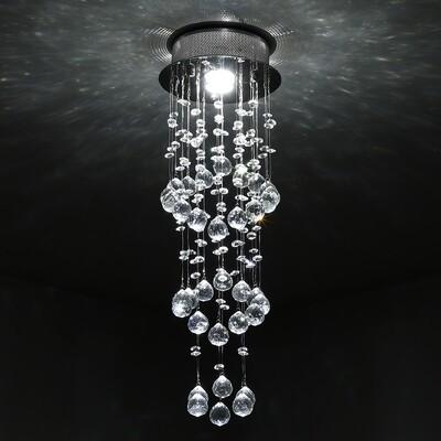 HOMCOM® Deckenleuchte Kronleuchter Kristall 1xGU10 Sockel 50W H62cm