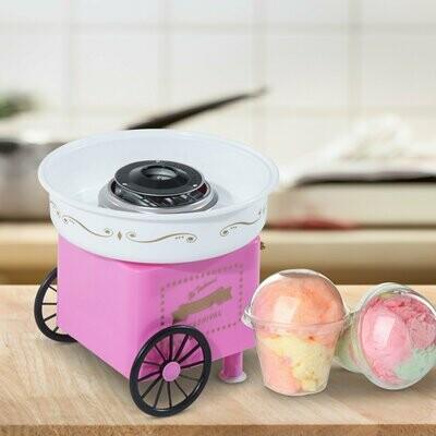 HOMCOM® Zuckerwattemaschine Zuckerwattegerät Pink