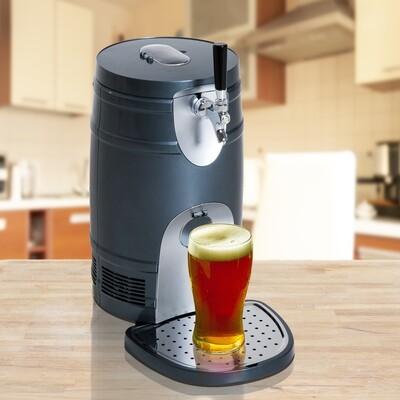HOMCOM® Bierzapfanlage Bierkühler für 5 Liter 60W ABS Φ24 x H42cm