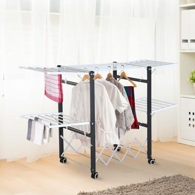 HOMCOM® Wäscheständer Wäschetrockner Standtrockner mit Flügeln