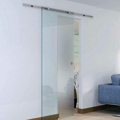 HOMCOM® Glasschiebetür 900 x 2050 mm satiniert mit Balkendekor