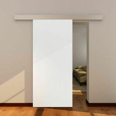 HOMCOM® Raumteiler mit Schiebefunktion | Aluminium, MDF | 88 x 88 x 203,5 cm | Natur und Weiss