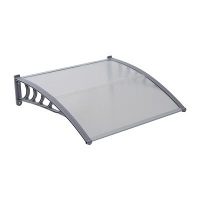 Outsunny® Vordach Bogenvordach mit Polycarbonatplatten L120 x W100 x H25,5cm