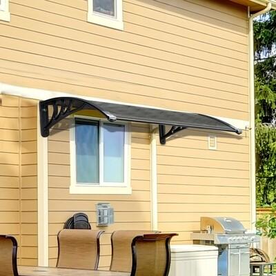 HOMCOM® Türvordach Überdachung 110x80cm braun