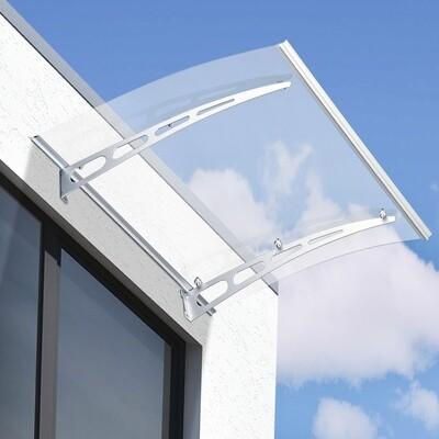Outsunny® Vordach Pultvordach Überdachung Transparent 120 x 90 x 15cm