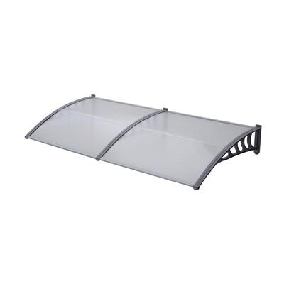 Outsunny® Vordach Pultvordach mit Polycarbonatplatten 200 x 100 x 25,5cm