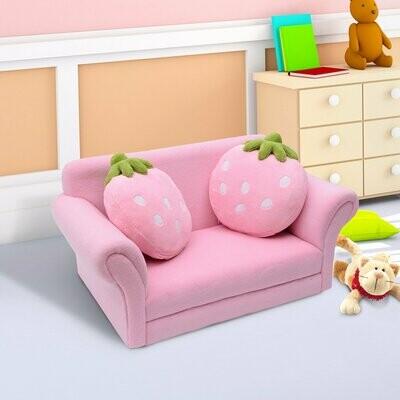 HOMCOM® Kindersofa Erdbeere Kindersessel Sofa Couch