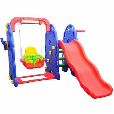 HOMCOM® Kinderrutsche Gartenrutsche Elefantenrutsche mit Schaukel