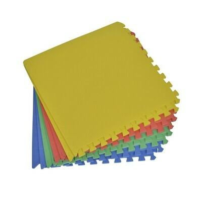 HOMCOM® Puzzlematte Spielmatte Schutzmatte Set EVA 8 tlg bunt