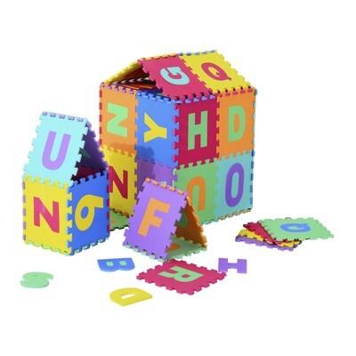 HOMCOM® 26 tlg Puzzlematte Spielmatte Bodenschutzmatte EVA Alphabet