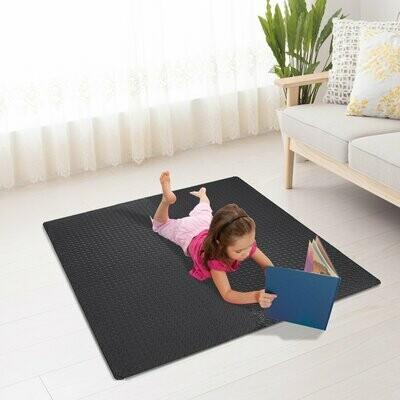 HOMCOM® 6 tlg Puzzlematte Bodenschutzmatte EVA schwarz