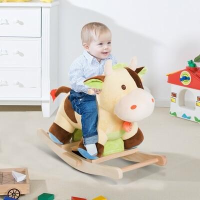 HOMCOM® Schaukelpferd Kinder Schaukel Kuh Schaukeltier