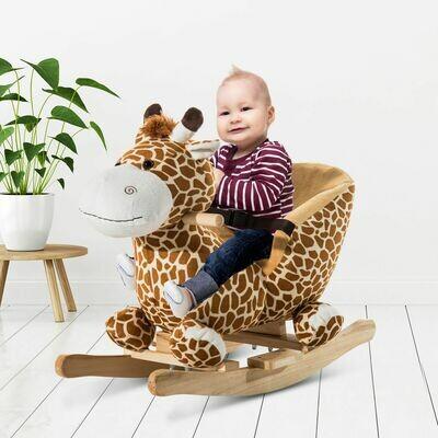 HOMCOM® Schaukeltier   Giraffe   Singend   60 x 33 x 45 cm