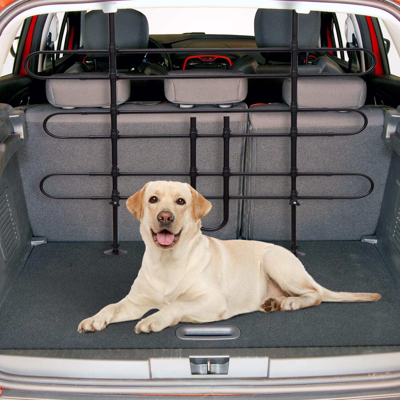 PawHut® Auto Hundegitter Schutzgitter Gepäckgitter verstellbar (Metalldrahtgeflecht)