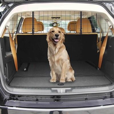 PawHut® Hundeschutzgitter Auto Universal verstellbar Kofferraumgitter Trenngitter Metall schwarz (91-145) x 30 cm