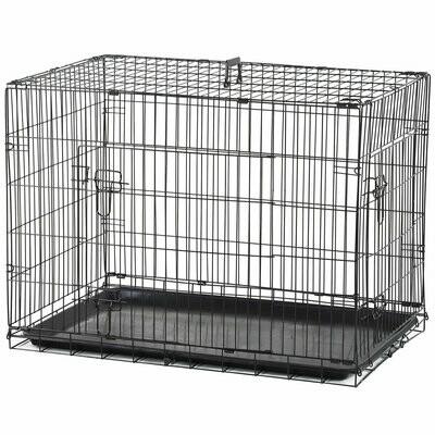PawHut® Hunde Transportkäfig Transportbox Drahtkäfig Hundebox Käfig Schwarz L