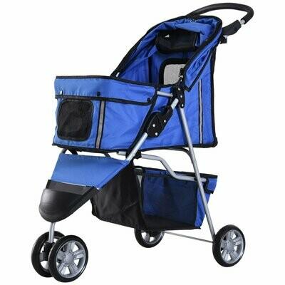 Pawhut Hundewagen | Buggy | Jogger | 99 x 45 x 86 cm | blau