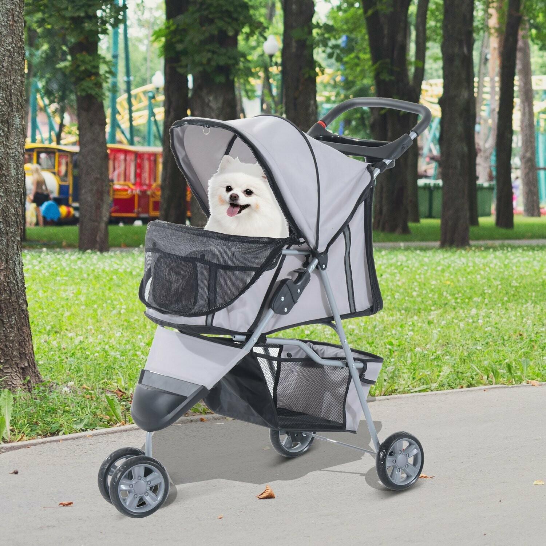 Pawhut Hundewagen | Stroller | Jogger | 99 x 45 x 86 cm | Grau