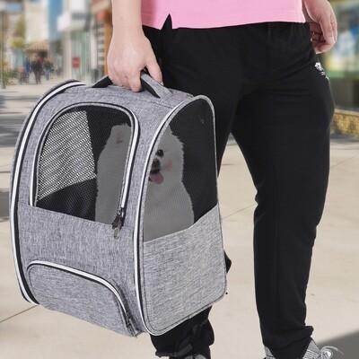 PawHut® Transporttasche Reisetasche Haustierrucksack 3 Eingang mit Festgurte Oxfordstoff 32 x 26 x 42 cm