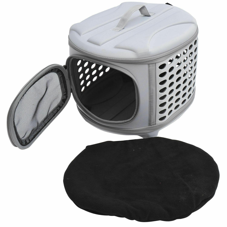 PawHut® Transportbox Tragetasche für Hunde und Katzen hellgrau