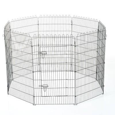 PawHut® Hunde Welpenauslauf, Freilaufgehege für Hasen/Kaninchen 71x107cm