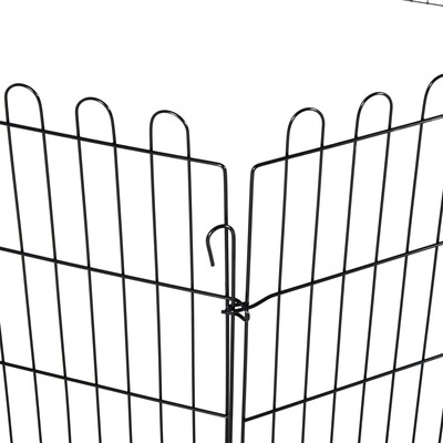 PawHut® Hunde Welpengitter Freilaufgehege Freigehege Welpenauslauf 71x76cm