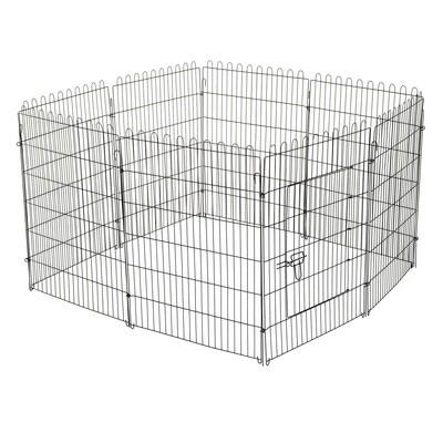 PawHut® Hunde Welpenauslauf, Freilaufgehege für Hasen/Kaninchen 71x91cm