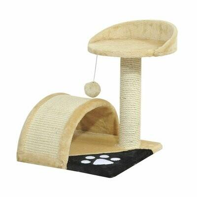 PawHut® Katzenbaum mit beigem Plüsch 36 cm x 36 cm x 44 cm