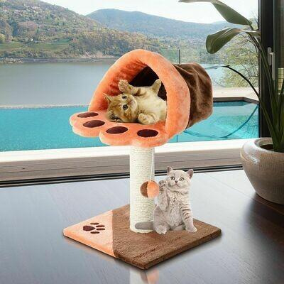 PawHut® Katzenbaum Kletterbaum Katze Sisal Orange