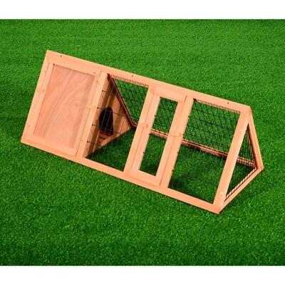 PawHut® Hasenstall Kaninchenstall Kleintierstall mit Freigehege Hasen Auslauf dreieckig