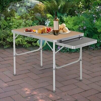 Outsunny® Campingtisch Picknicktisch Klapptisch Höhenverstellbar Extra Tischplatte Alu 90 x 60 x 40/70 cm