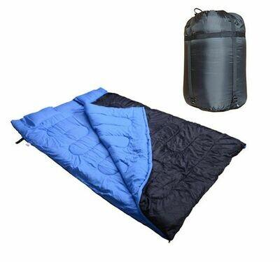 Outsunny® Schlafsack Deckschlafsack Doppelschlafsack mit Kissen zum Camping 190cm