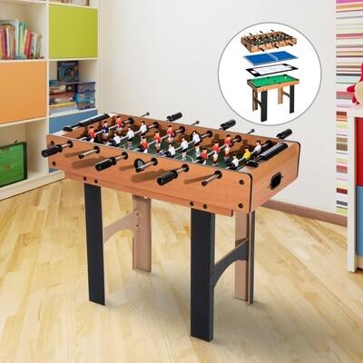 HOMCOM 4 in 1 Multi Spieltisch Tischfussball, Tischtennis, Hockey und Billard
