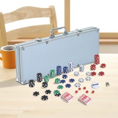 HOMCOM® Pokerkoffer Pokerset 500 Alu Koffer